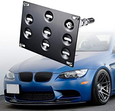 Front Bumper License Plate Mount Bracket Holder For BMW E90 E91 3 Series 2006-08