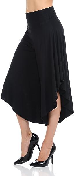 Ladybug Solid/Print Fold Over Waist Capri Palazzo Yoga Lounge Pants Wide Leg Trousers Small-3X Plus Size