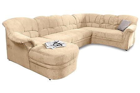 Sofa Couch Wohnlandschaft Kampen Creme Mit Federkern Amazon De