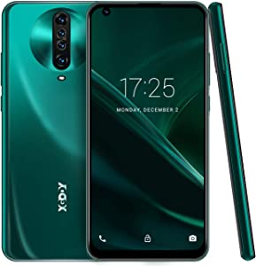 6.8 Inch Unlocked Smartphones,Xgody K30 Android 10.0 Cell Phone Cheap,Dual Sim Free Phones,Dual 5MP + 64GB Storage(Green)