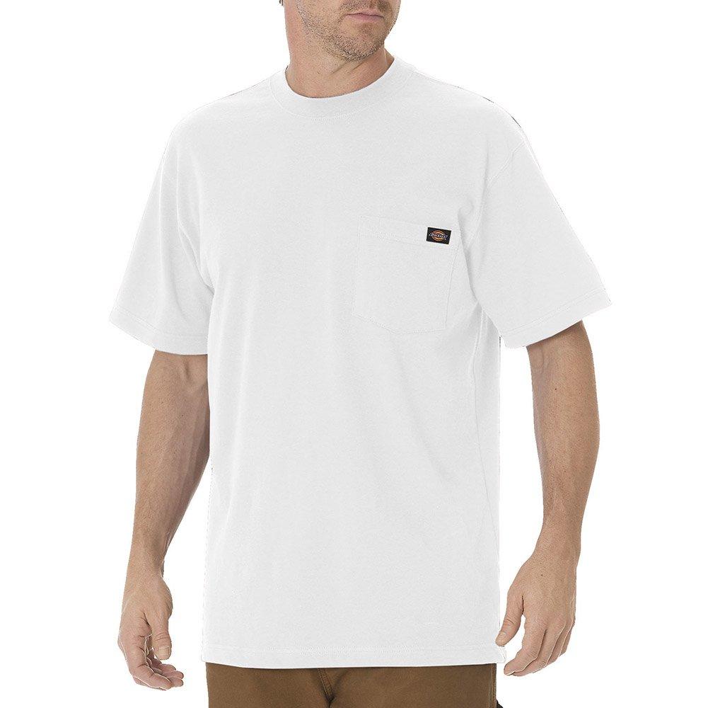 Dickies Men's Heavyweight Crew Neck Shirt, White, 4XL Tall