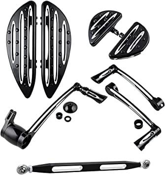 Shift Lever Brake Arm Kit /& Front Floorboard /& Brake Pedal For Harley Touring