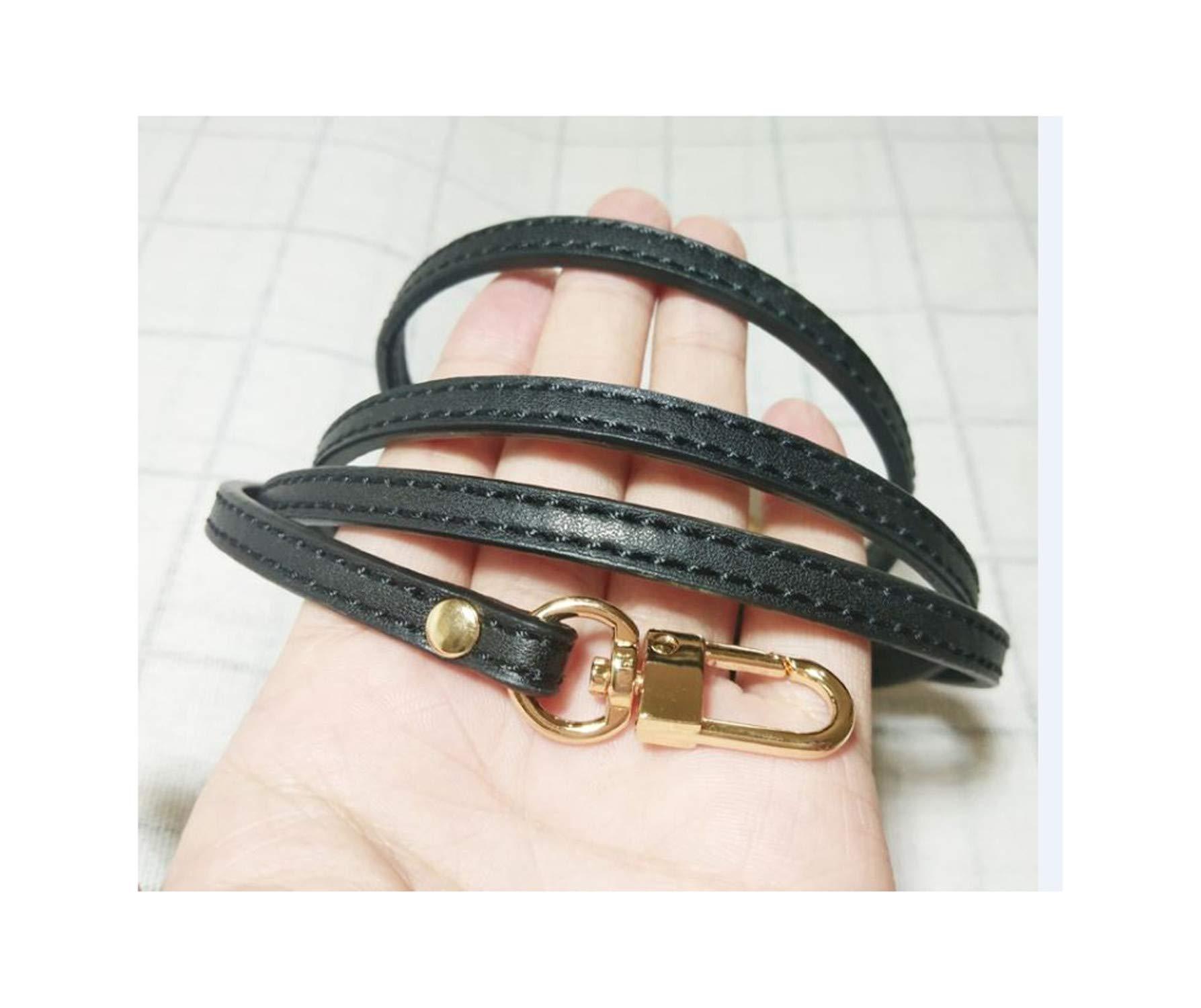 20Pcs Diy Genuine Leather Bag Strap 0.7120Cm Bag Accessories For Bag,Black,Onesize