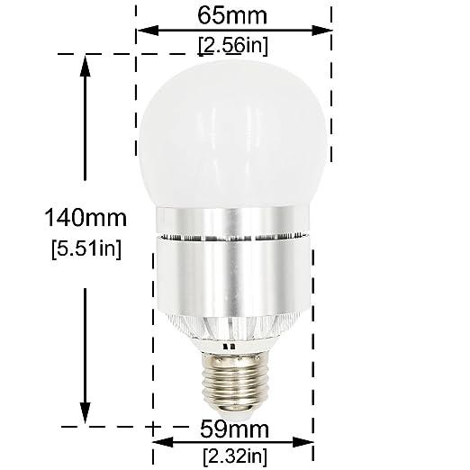 Bonlux 12W E27 1200lm LED Sensor de Encendido y Apagado Bombilla De Luz Fría 6000k Con 180 Grados para Pasillo, Vestíbulo, Patio, Baño, Camino, ...