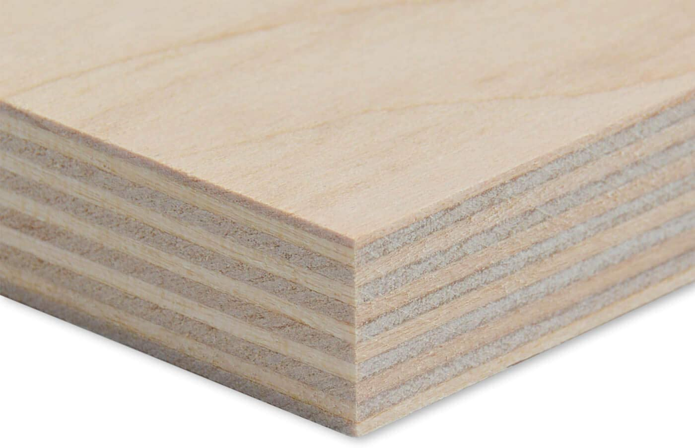 Plywood Sheets Thickness 5 mm Wooden Ply Boards Made of Untreated Birch Wood Multifunctional for Art Creative Craft and DIY Width 40 cm Length 50 cm