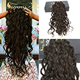 Sunny 26'' 10pcs 150g/Set Double Weft Clip in Human Hair Extensions Darkest Brown Natural Wavy Thick Full Head Human Hair Clip in Extensions