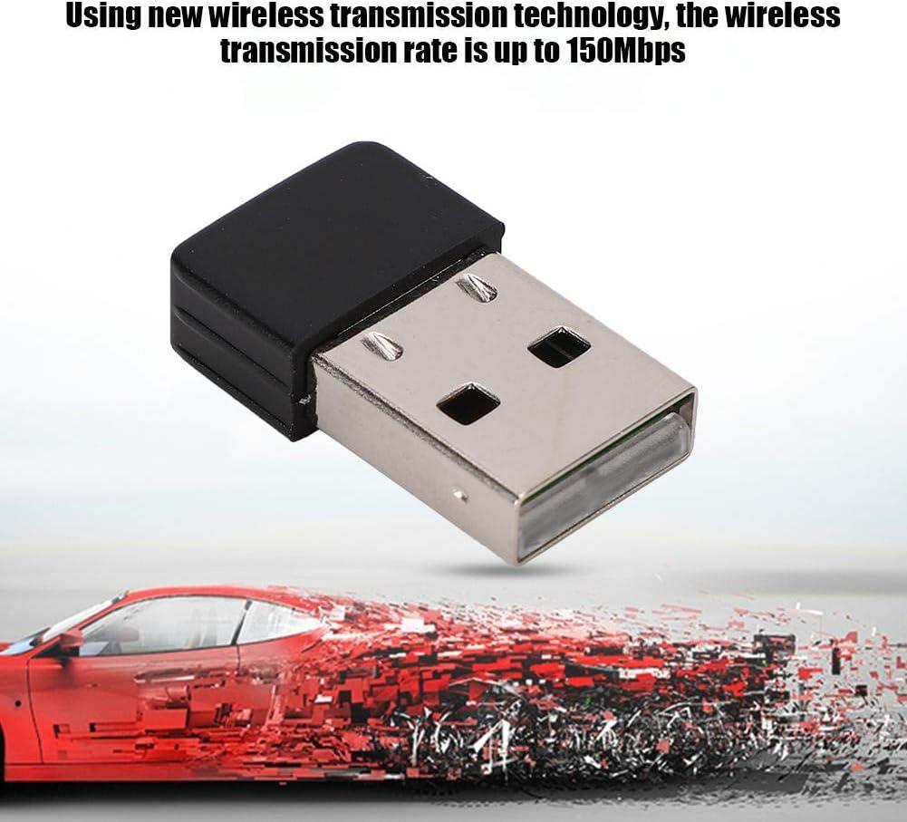 150Mbps USB Wireless Card Adapter High Sensitivity RT5370 WiFi Receiver Built-in Smart Antenna Support AP Function//WPA-//WPA-PSK//WPA2//WPA2-PSK Tangxi USB Laptop Network Card