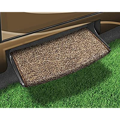 Prest-O-Fit 2-0201 Wraparound Radius RV Step Rug Brown 22 In. Wide: Automotive