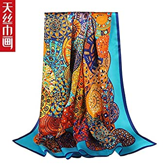 YOOMAT bufanda de seda señora Hangzhou seda mujer otoño e invierno ...