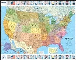 Mapa Plastificado USA Político Mapas En Tubo Y Plastificados - Mapas usa