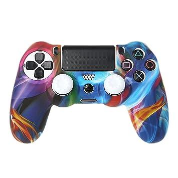 sale retailer delicate colors 50% off Baodanjiayou Coque de Protection en Silicone pour Manette PS4 + 2 Capuchons