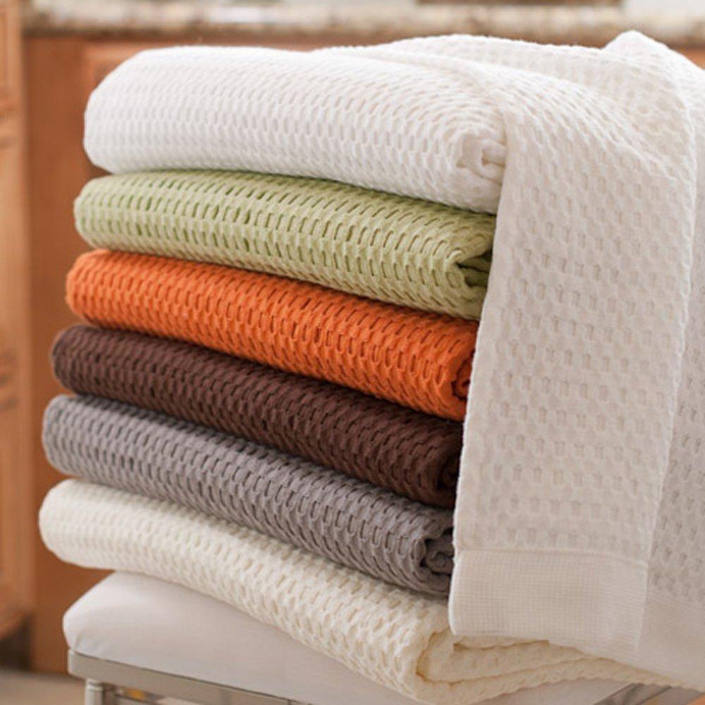 Gilden Tree 100% Natural Cotton Lattice Waffle Weave Bath Towel Set with Bath Mat (Slate) by Gilden Tree (Image #5)