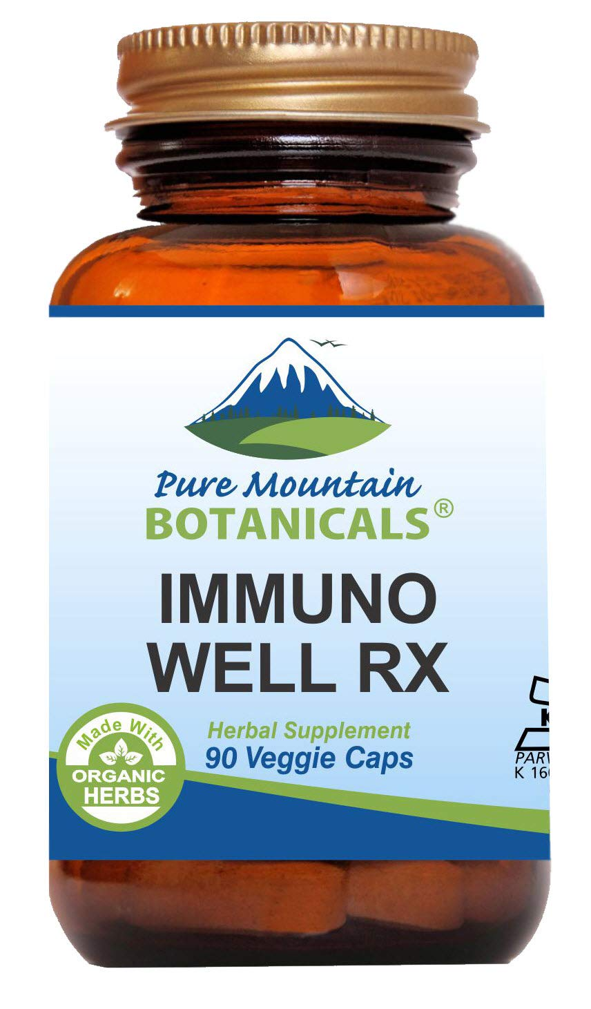 Immuno Well RX - 90 Kosher Caps Now with Organic Astragalus Echinacea Garlic Maitake Shiitake Mushroom Honeysuckle & Beta Glucan
