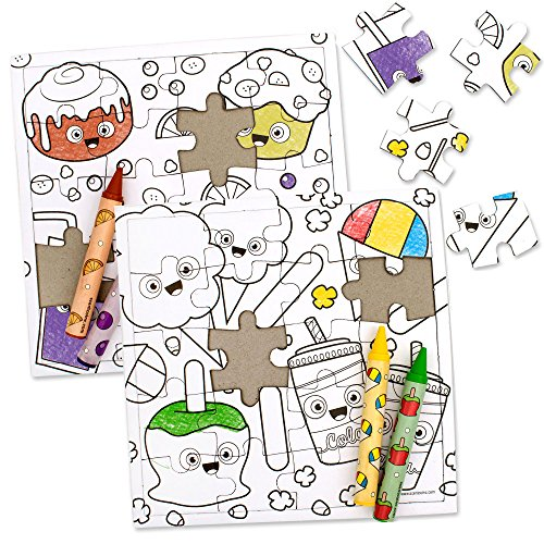 Scent Masters Coloring Puzzle Bundle - Breakfast Goodies & F