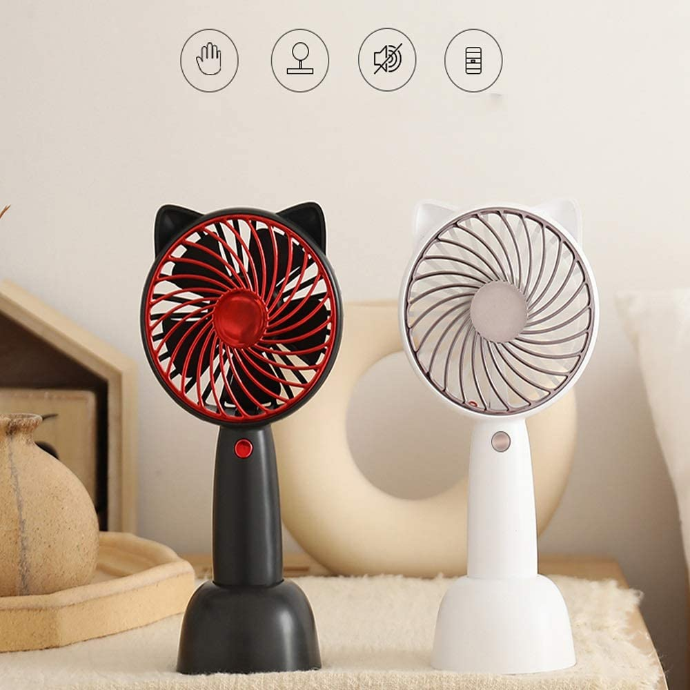Color : C BNSDMM Small Fan USB Portable Primary School Dormitory Handheld Desk Bed Silent Charging Fan DC5V 1.3-4.7W