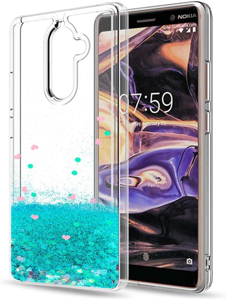 LeYi Funda Nokia 7 Plus Silicona Purpurina Carcasa con HD ...