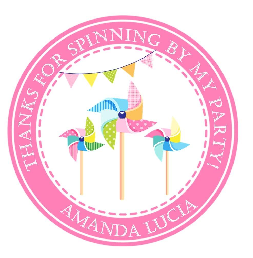 Pinwheel Birthday Party Stickers