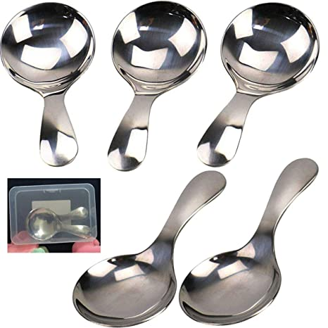 Amazon.com: YUANDIANDIAN 5 cucharas de acero inoxidable con ...
