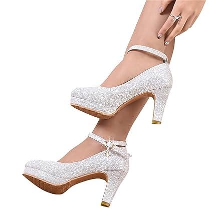 Beautiful bridal shoes Scarpe da Sposa - Abiti da Damigella d Onore in  Argento Tacchi 1cc83b8240c