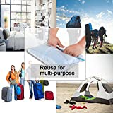 12 Space Saver Travel Storage Bags for Clothes By Josphine's Home, Roll Up Compression Packing Organizers (No Vacuum or Pump Needed), Saving Space for Luggage Traveling & Home Storage(Medium to Large)