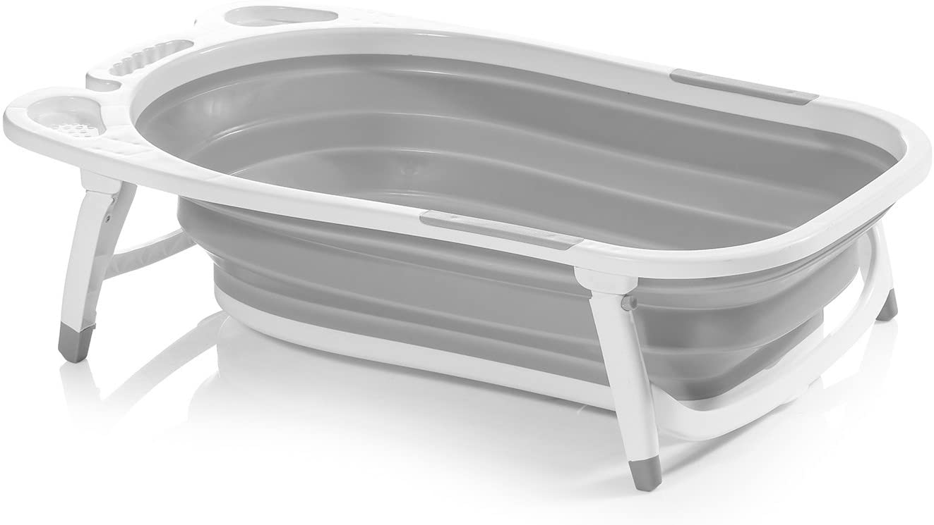 Innovaciones MS Fold 6836 - Bañera Plegable, 50 x 84 x 25 cm, Gris