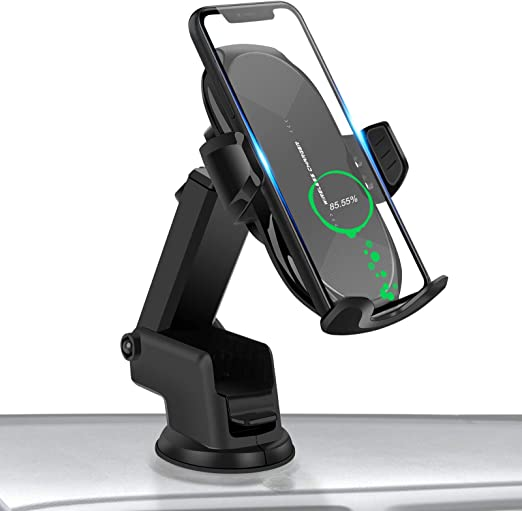 NANAMI Wireless Car Charger,10W Max Fast Charging Car Mount,Air Vent Automatic Clamping Phone Holder,Compatible iPhone SE//11//11 Pro//11 Pro Max//XS Max//XS//XR//X//8 Plus,Samsung S20//S10//S9//S8//Note 10+//9//8