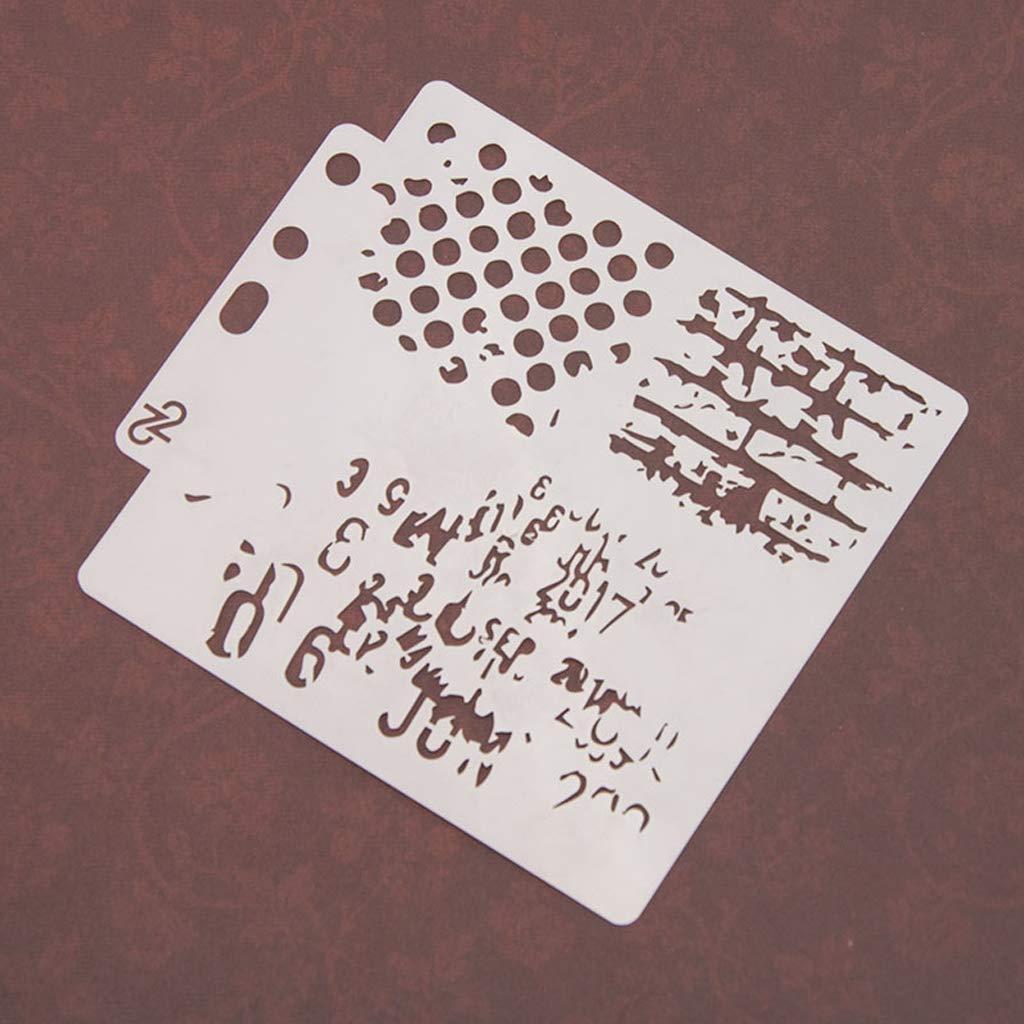 Fafalloagrron Plantillas de Pintura para /álbumes de Recortes /álbum de estampaci/ón Repujado Tarjetas Manualidades