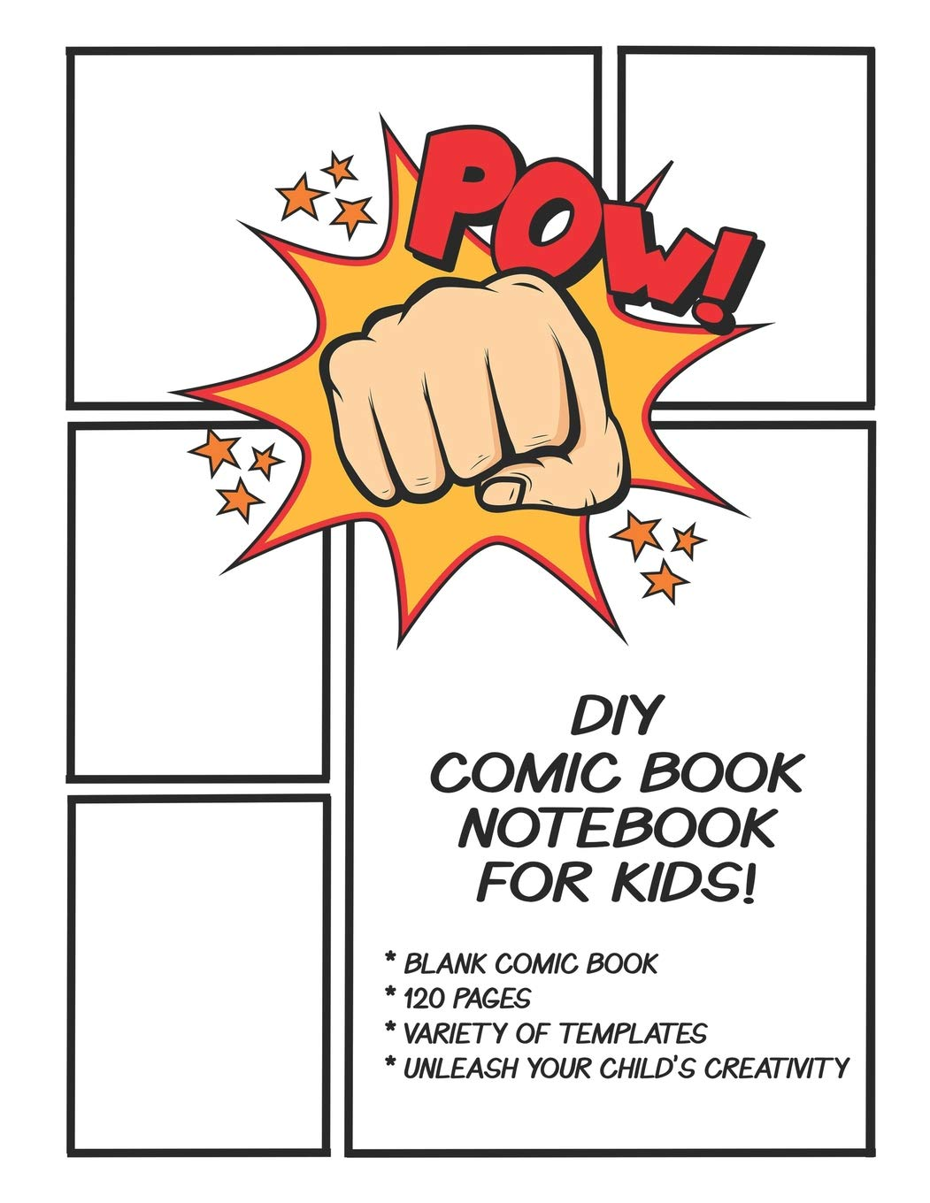 Unique Superhero Themed Templates Blank 17x11 Sketchbook Create Your Own Comic Strip Comic Maker Book Paper Boards for Cartoon and Comics Drawing Art Books for Kids