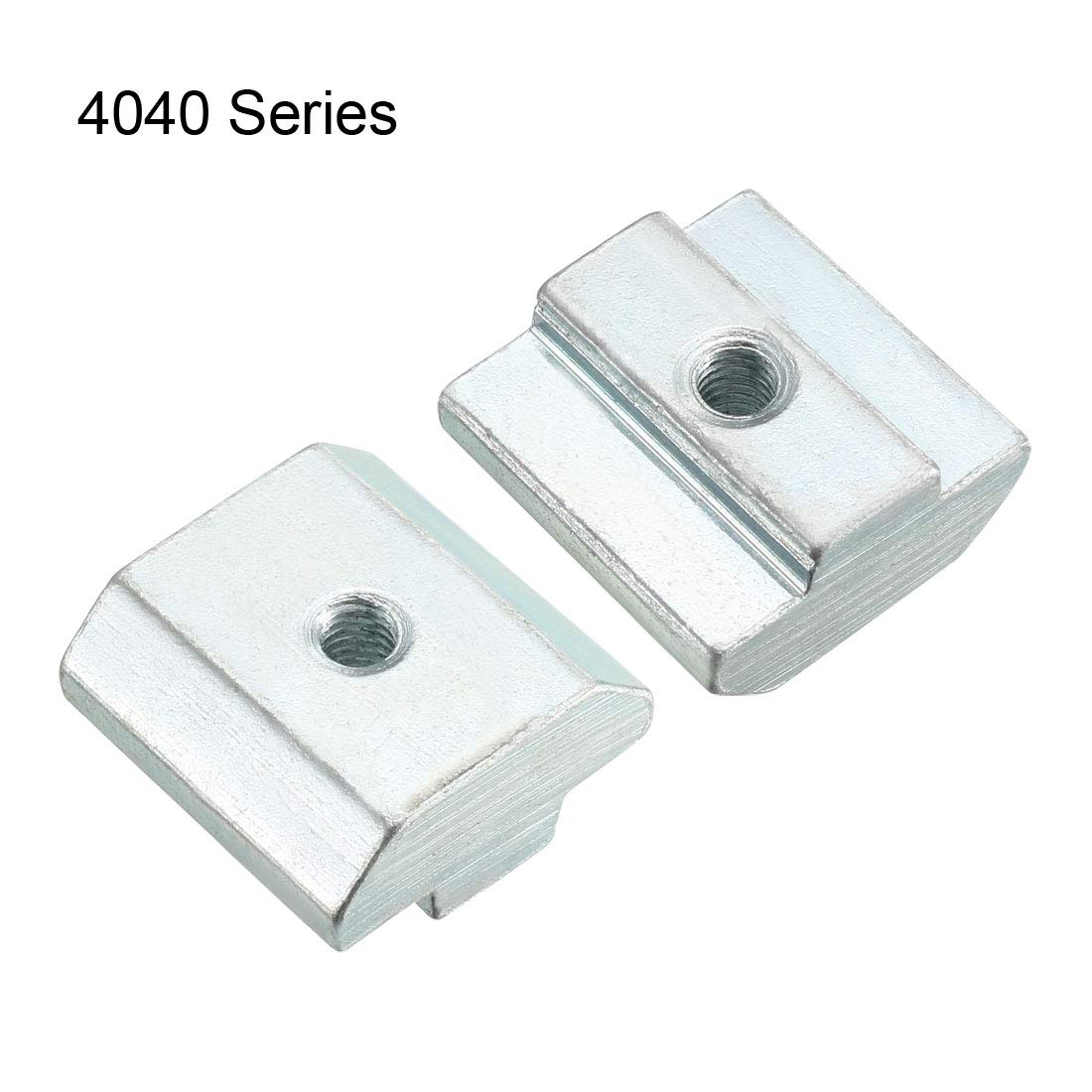 Pack of 12 uxcell Slide in T-Nut M8 Threaded for 4040 Series Aluminum Extrusions Profile