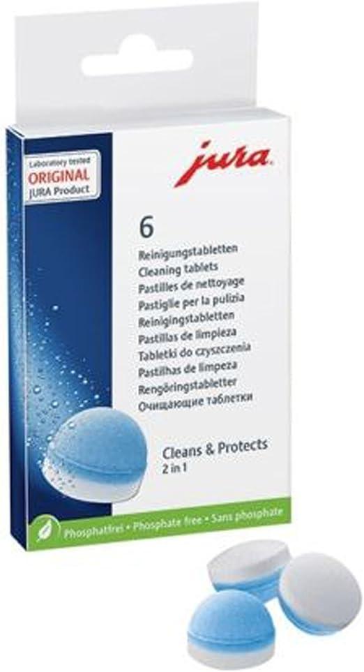 Jura cafetera pastillas de limpieza (Pack de 6): Amazon.es: Hogar