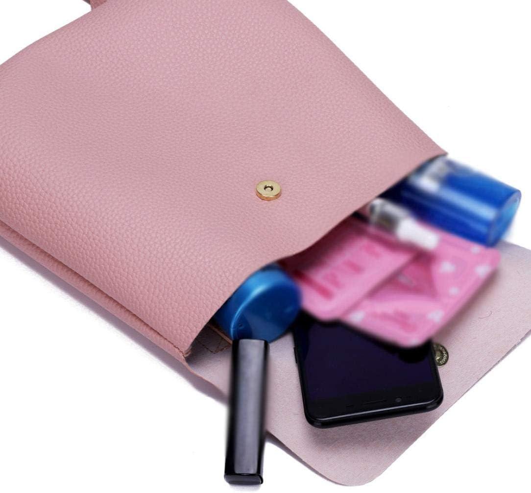 Gusspower PU Mochila de Cuero para Mujer Moda Color sólido Casual Bolso de Hombro niña Mini Daypack (Rosa): Amazon.es: Deportes y aire libre