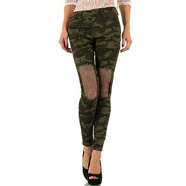 90f29afc337f Schuhcity24 Damen Jeans Hose Jeanshose Damenjeans Camouflage Netz Skinny  Röhre Röhrenjeans Bluejeans  Amazon.de  Bekleidung