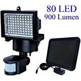New 80 LED Solar Powered Super Bright Motion Sensor Security Flood Light Garden Outdoor Spot Lamp
