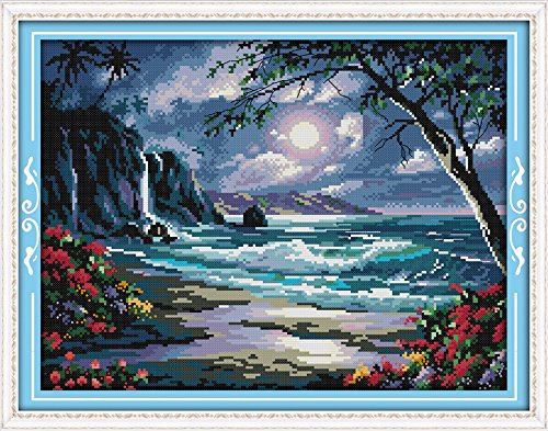 Happy Forever Cross Stitch Scenery, the sea of the moon