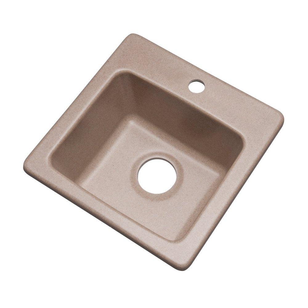 Espresso 16 Dekor Sinks 27190Q Duxbury Composite Granite Prep Sink with One Hole