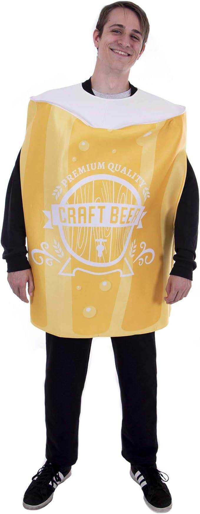 Disfraz de Cerveza de Halloween – Divertido Traje de Vidrio para ...