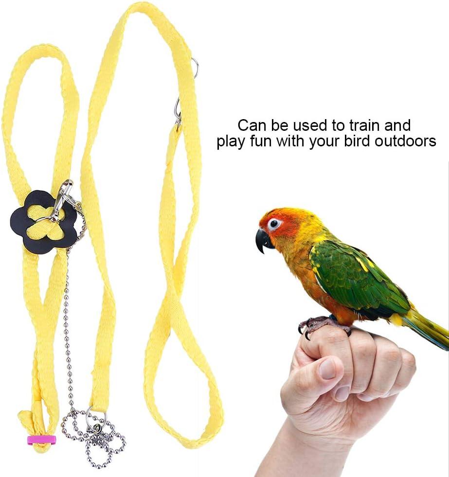 Arnés ajustable para pájaros, correa suave de loro, anillos de ...