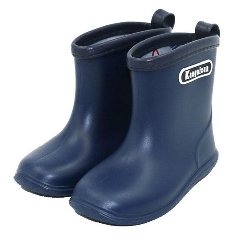 Toddler Rain Boots PVC Boy Girl Rain Boots Waterproof Non-Slip Kids Rain Shoes