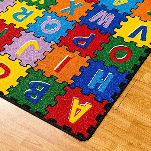 CR Kids / Baby Room / Daycare / Classroom / Playroom Area Rug ABC PUZZLE (A-Z AND 1-9) Educational Fun Play Mat Bright Colorful Vibrant Colors (8 Feet X 10 Feet) by Champion Rugs (Image #3)