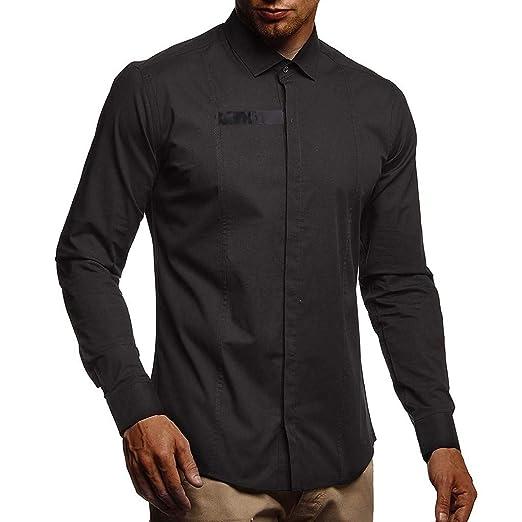 ღLILICATღ Camisa De Vestir De Negocios para Hombres, Empalme de ...