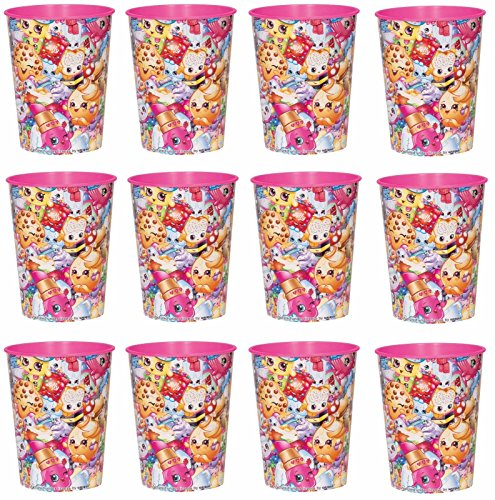 BirthdayExpress Lot of 12 Shopkins 16oz Party Plastic Cup ~Party Favor Supplies~ by Shopkins