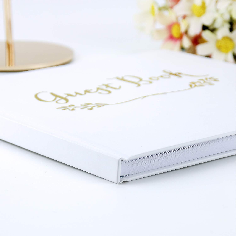 Chic Guest Book Nozze VEESUN Libro Degli Ospiti per Matrimonio Copertina Rigida di Alta Qualit/à Registro Degli Invitati 50 Album Fotografico Pagine Bianche Anniversario di Matrimonio