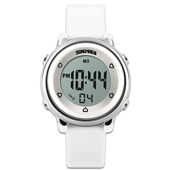 fa91eed18770 Los niños de relojes reloj deportivo con cronómetro y 7 LED  retroiluminación función tiempo maestro azul