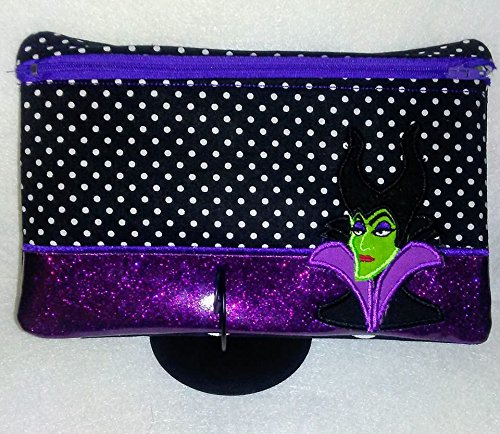 Sleeping Beauty Maleficent 6 x 10 Inch Zipper Pouch Coin Purse Makeup Bag Wristlet