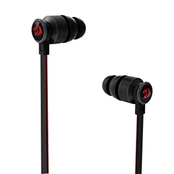 Redragon Thunder Pro E200 Gaming & Music in-Ear Earbud Headphones,/Headset, Heavy Bass Earphones with in-line Mic, Super Audio with Noise Cancelling