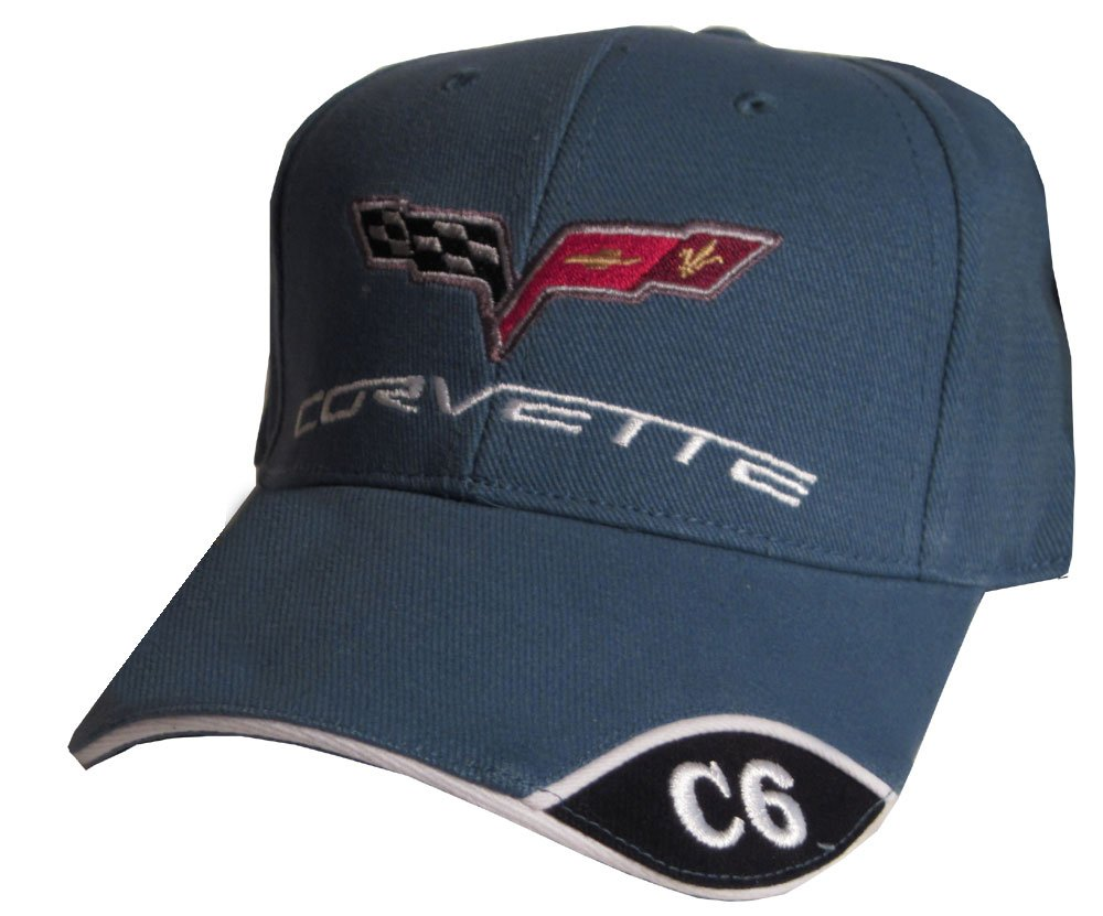 Bundle with Driving Style Decal Gregs Automotive Corvette C6 Hat Cap in Blue