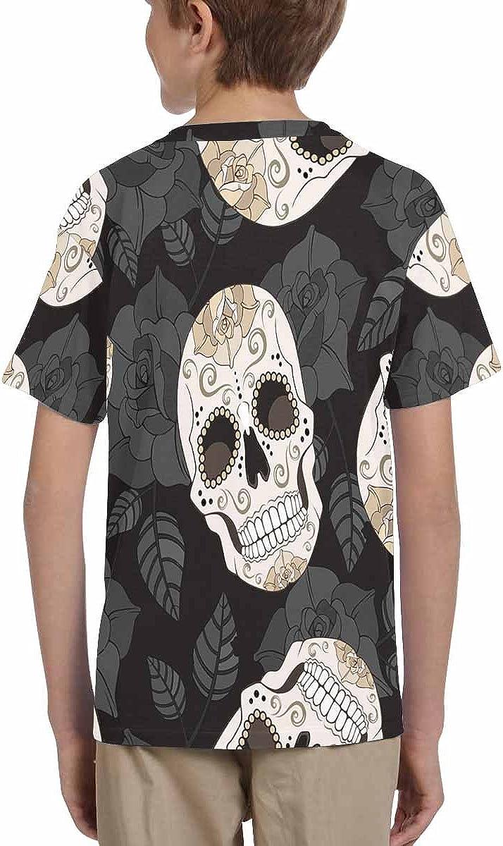XS-XL INTERESTPRINT Kids T-Shirts Roses and Sugar Skulls