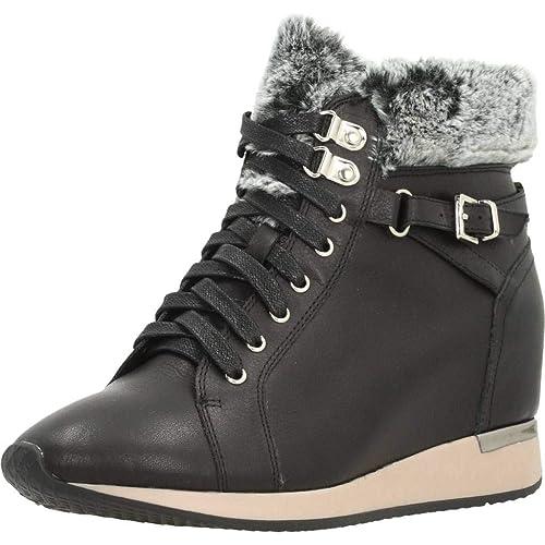 Botín Cuña CARMELA Mujer Pelo Piel Negro 66450: Amazon.es: Zapatos y complementos