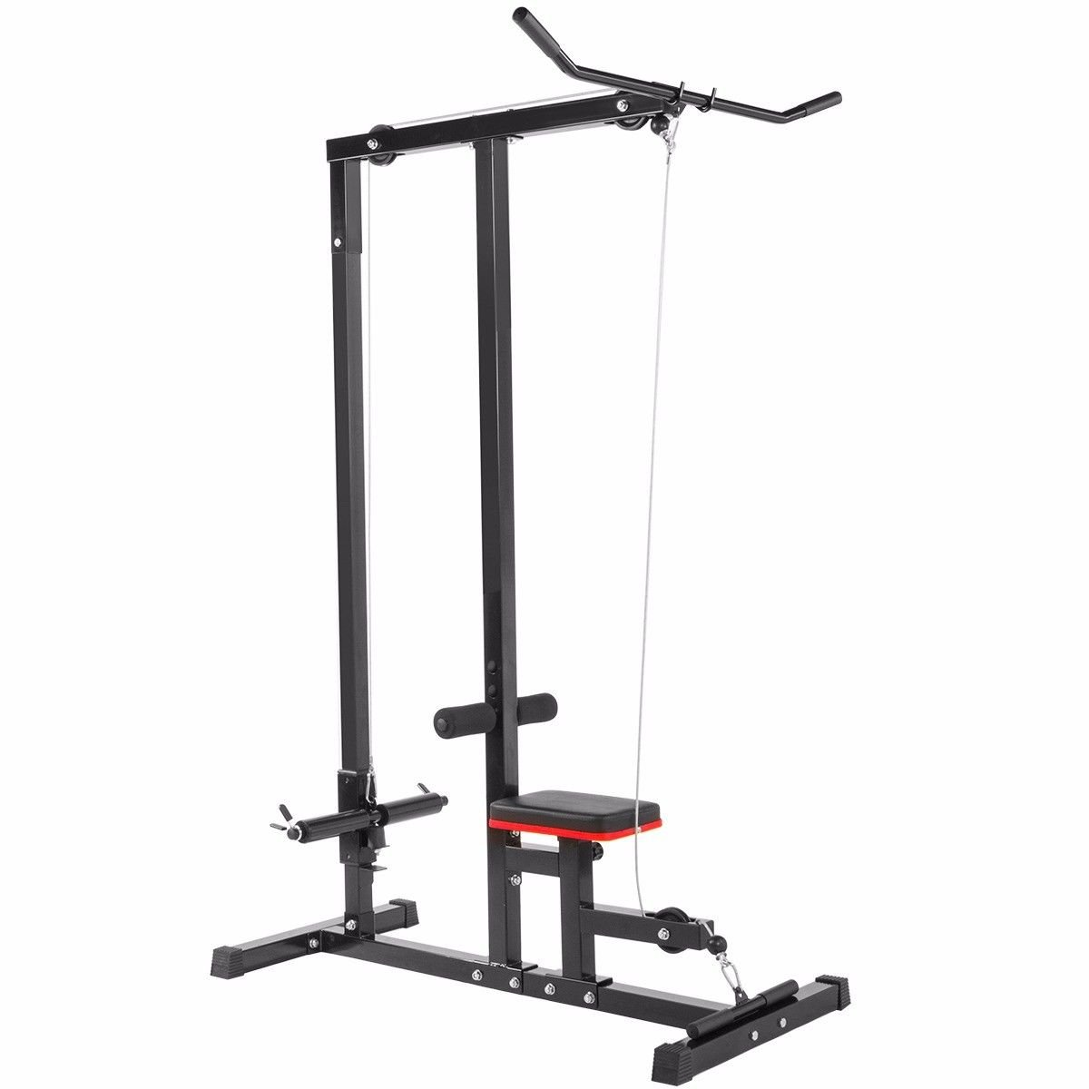 Home gym body Lat Pull down Machine Low Row Bar Cable Fitness weigh training by BUY JOY