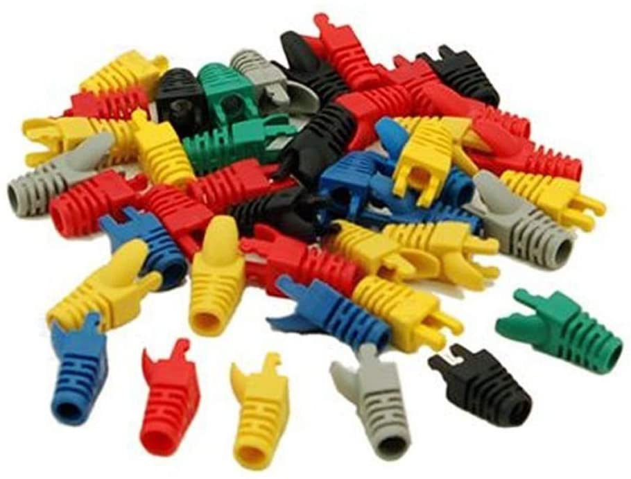 Cable Length: Other Computer Cables 50pcs RJ45 Network Cable Plug Boots Cap New Electronics